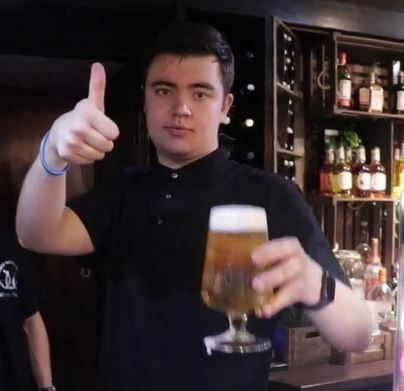 The barman with autism living his dream